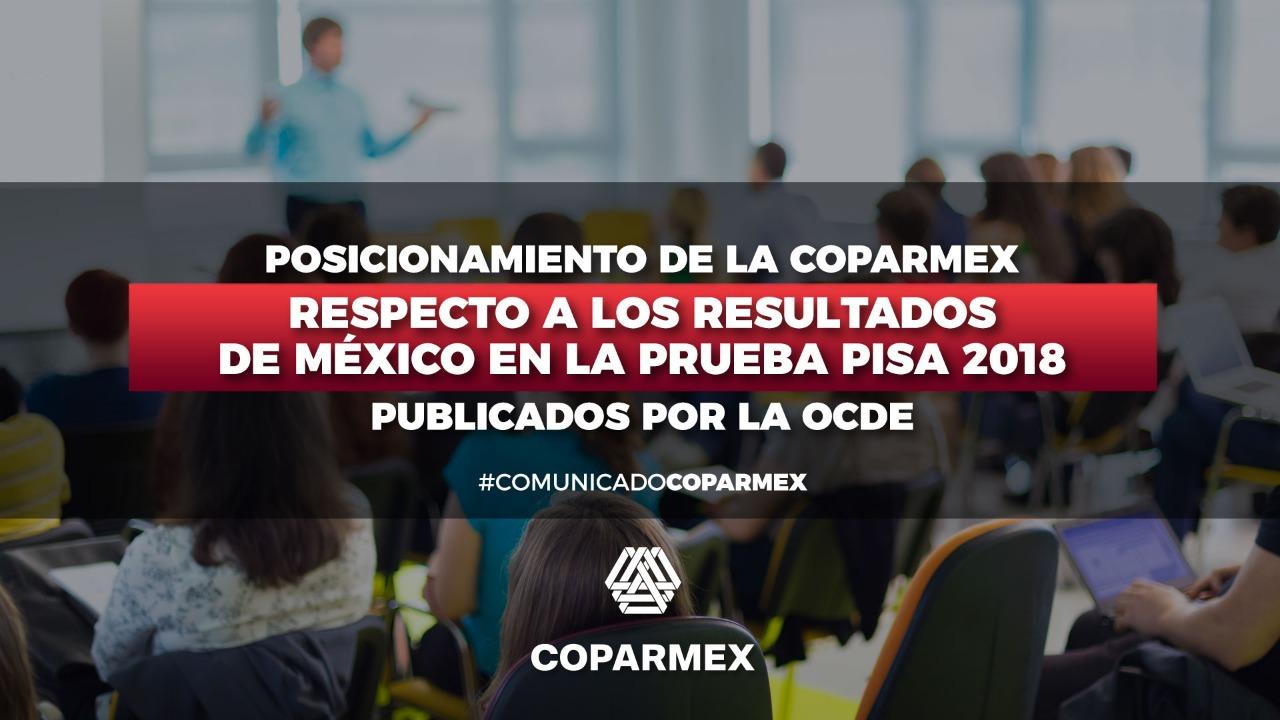 Resultados de México en la prueba PISA 2018 publicados por ...